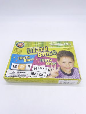 Math Bingo by Dalmatian Press New Fun Kids Learning Game Sealed 2-8 Players for Sale in Cincinnati, OH