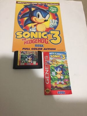 Sonic the hedgehog with game guide and manual for Sale in Kent, WA