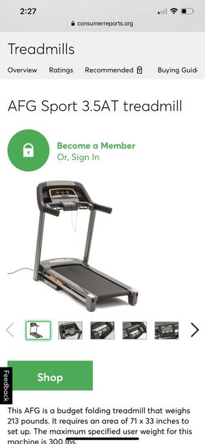 TREADMILL AFG Sport 3.5AT for Sale in Brooklyn, NY