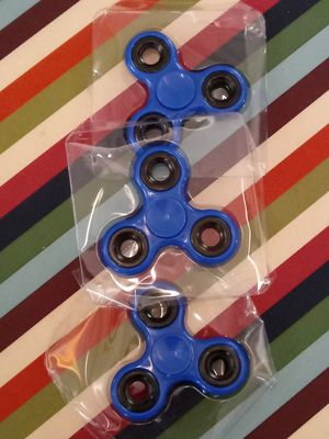 (3 pc ) solid blue fidget spinning toys ,- kids fast wheels - ca,rs - hand toy - for Sale in Naples, FL