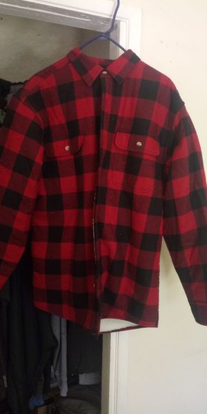 RedHead Sherpa-Lined Plaid Shirt for Men - Red & Black - L for Sale in Ontario, CA