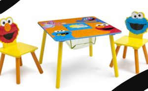 New!! Sesame Street table and chairs kids set, table and chairs kids set, for Sale in Phoenix, AZ