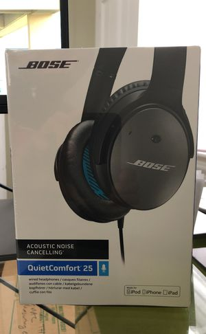 Bose QuietComfort 25 Acoustic Noise Cancelling Headphones for Apple Devices - Black (Wired 3.5 mm) for Sale in Washington, DC