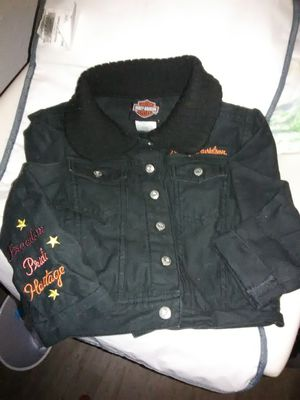 Little boys black denim HD jacket 2T and 2 pairs of bib overalls for Sale in Worden, IL