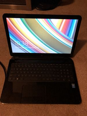 HP touch smart Laptop Notebook 15-r264dx PC 15.6 display 750 gb 5400rpm hard drive 6gb memory for Sale in Anaheim, CA