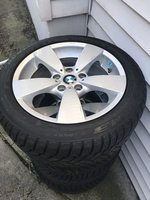 4 new RUNFLATS tires/wheels/rims 17 inch 5 bolt for Sale in Portland, OR