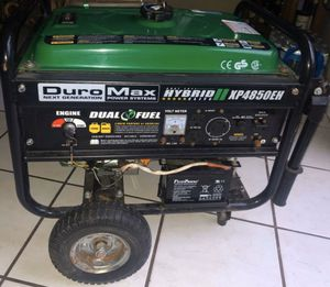 Duromax XP4850EH 3850 Running Watts/4850 Starting Watts Dual Fuel Electric Start Portable Generator for Sale in Jacksonville, FL