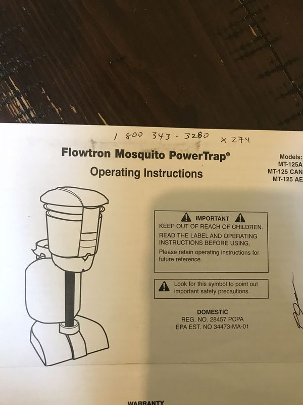 Flowtron MT125 Mosquito power trap for Sale in Mesquite, TX - OfferUp