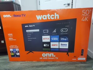 Onn. Roku tv smart 50 inches for Sale in Princeton, FL