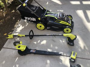 Lawn mower self propelled,blower, weed wacker/eater RYOBI 40V for Sale in San Diego, CA
