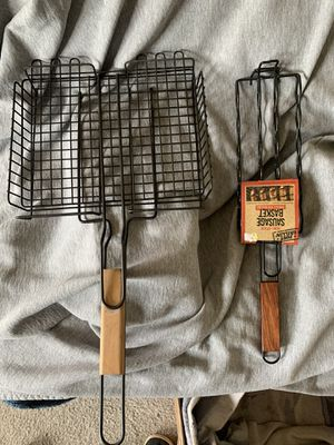 Camping cooking utensils,flat tray and sausage for Sale in Tracy, CA