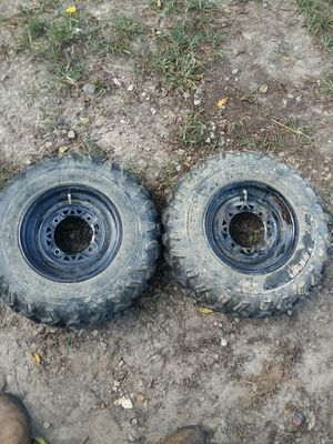 2007 kawasaki bayou 220/250 rims and tires, and 2 front LIFAN 260 rims and tires for Sale in Meherrin, VA