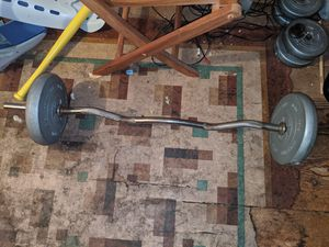 62 Pounds In Weights + Bar for Sale in Quincy, MA