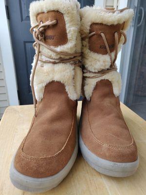 Khombu Lace Up Fur Fashion Boots 6.5 for Sale in Fairfax, VA