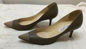 Jimmy Choo size 5.5 (35.5 European size) leather heels for Sale in Santa Ana, CA