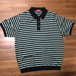 Supreme - Striped Knit Polo - Sage - Small for Sale in Anaheim, CA