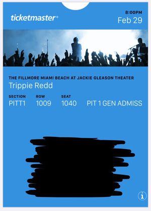 Trippie Redd Pit 1 Tickets. The Fillmore Miami beach for Sale in Miami, FL