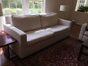 Sofa, fabric, off white. (west elm) for Sale in Boyds, MD