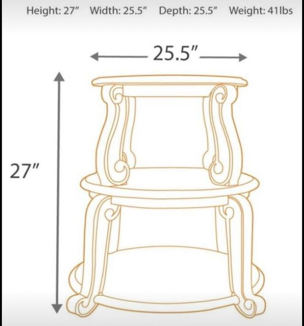 Living Room Table Set - 3 pieces: One cocktail table, 2 end tables
