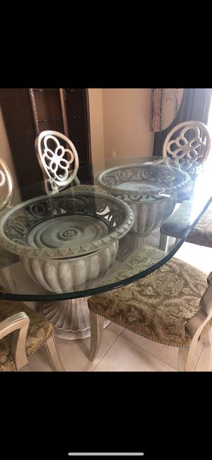 Hendredon glass table and 6 chairs bundle for Sale in Chicago, IL