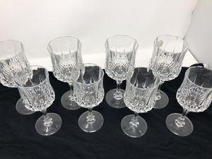 Set of 8 crystal cristal d' Arques glasses 4 large 4 small for Sale in Bellevue, WA