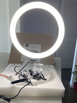 """12"""" Ring Light with Tripod Stand & Cell Phone Holder, 3 Light Modes & 10 Brightness Level Dimmable Desk Makeup Ring Light for YouTube Video/Light for Sale in Vista,  CA"""