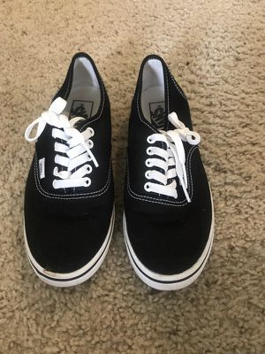 Black Van Sneakers Women size 7, Men size 5.5 for Sale in Los Angeles, CA