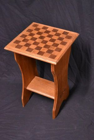 Handmade Refurbished Oak and Walnut Chess Table for Sale in Elkins, AR