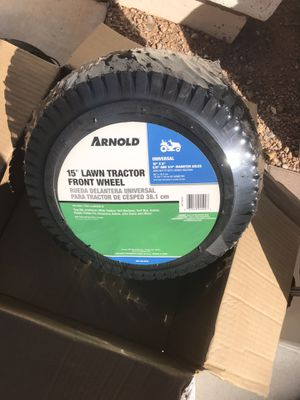 New lawn Tractor Front Tires and Wheels in Box for Sale in Gilbert, AZ