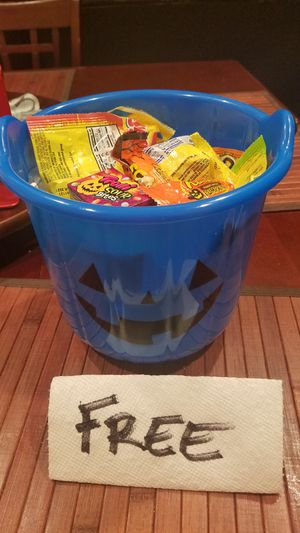Free Halloween bucket with candy for Sale in Lawndale, CA