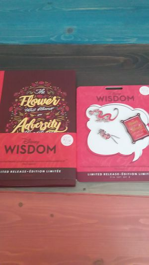 Disney Wisdom Collection Limited Edition Journal and Pins Set 2/12 (Sold Out) for Sale in Houston, TX