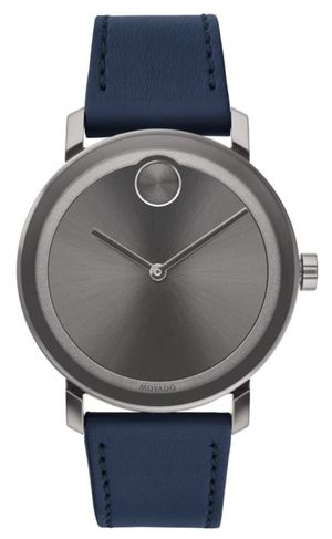 Movado Bold Navy Leather Mens Watch for Sale in Norfolk, VA