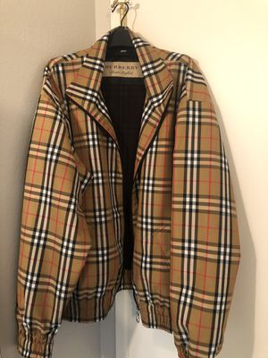 Burberry Yellow Check jacket size L/54 for Sale in Bakersfield, CA