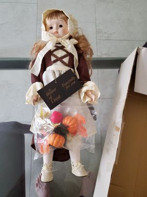 New Thanksgiving porcelain collector doll for Sale in Royal Palm Beach, FL