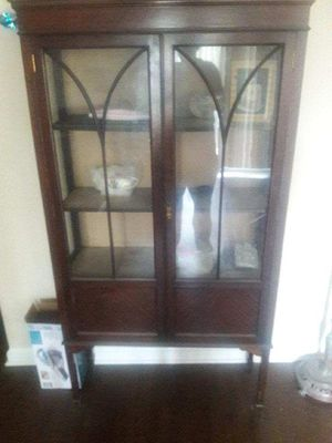 Antique china Cabinet or Case with bottom compartment for Sale in Franconia, VA