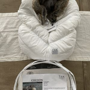 7am White Cocoon For Baby Car Seat for Sale in Brookline, MA