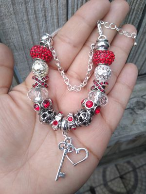 Key to my heart Pandora STYLE charm bracelet for Sale in Spring, TX