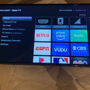 Sharp LC-40LB601U 43 inch ROKU LCD Smart TV Excellent Condition Remote Included for Sale in Woodinville, WA