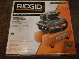 Ridgid 4.5 Gal. Portable Electric Quiet Air Compressor for Sale in Modesto, CA
