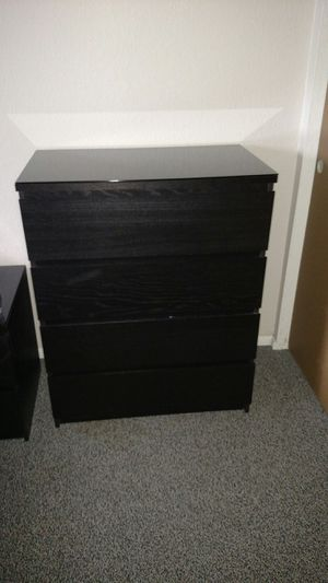 Ikea night stand and dresser with glass tops for queen set for Sale in Overgaard, AZ