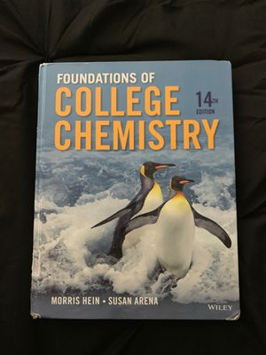 College Chemistry 14th Edition by Morris Hein, Wiley for Sale in Tacoma, WA