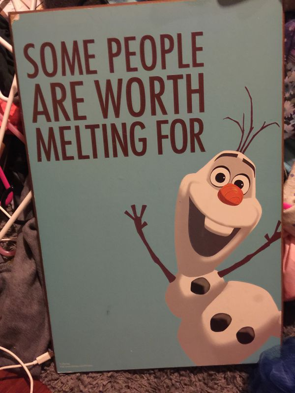 Frozen movie wooden billboard you give me price!
