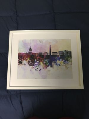 Washington DC artwork work with frame for Sale in Washington, DC