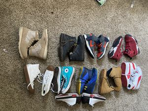 All Shoes 20$ each or all 10pair for 150$ ( Jordan's Nike's Van Boots Converse) for Sale in Upland, CA