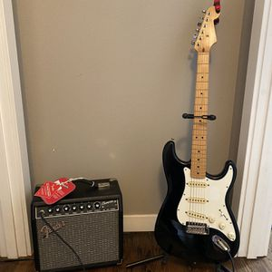 Fender Stratocaster, Fender Amp, Stand & Cable for Sale in Milwaukie, OR