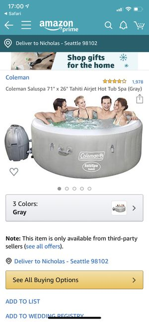Inflatable Hot Tub for Sale in Seattle, WA