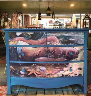 Sleeping a Mermaid on The Beach Chest of Drawers for Sale in Virginia Beach, VA