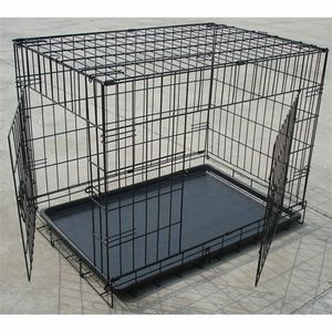 Brand new in box 30x19x21 Inches 2 Doors Pet Cage Dog Kennel Crate Foldable Portable Fold and Store Away for Sale in Whittier, CA