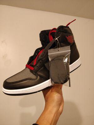 Jordan 1 High Satin Black Gym Red size 10 for Sale in Pico Rivera, CA
