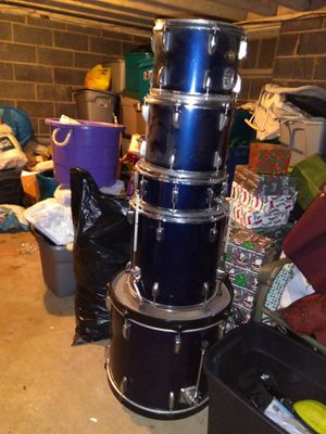 Drum set cymbals double bass and hardware for Sale for sale  Roselle, NJ